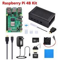 Elecrow Original Raspberry Pi 4B Kit with 4GB RAM +Aluminum Alloy Shell +Power plug +Micro HDMI Cable+ 32G SD Card + Card Reader
