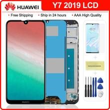 Original Für Huawei Y7 2019 LCD Display Touch Screen Mit Rahmen Für Y7 Prime 2019 DUB-LX3 DUB-L23 DUB-LX1 lcd