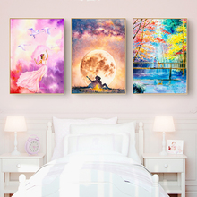 Abstract Watercolor Landscape Canvas Painting Nordic Wall Art Romantic Posters And Prints Living Room Bedroom Decoration Picture