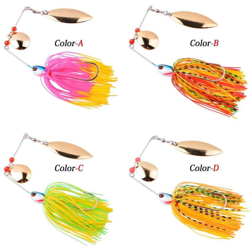 1pcs Spinner Bait 10G 16G 17G Metal Lure Hard Fishing Lure Spinner Lure Spinnerbait Pike Swivel Fish Tackle Wobbler Fishing 2
