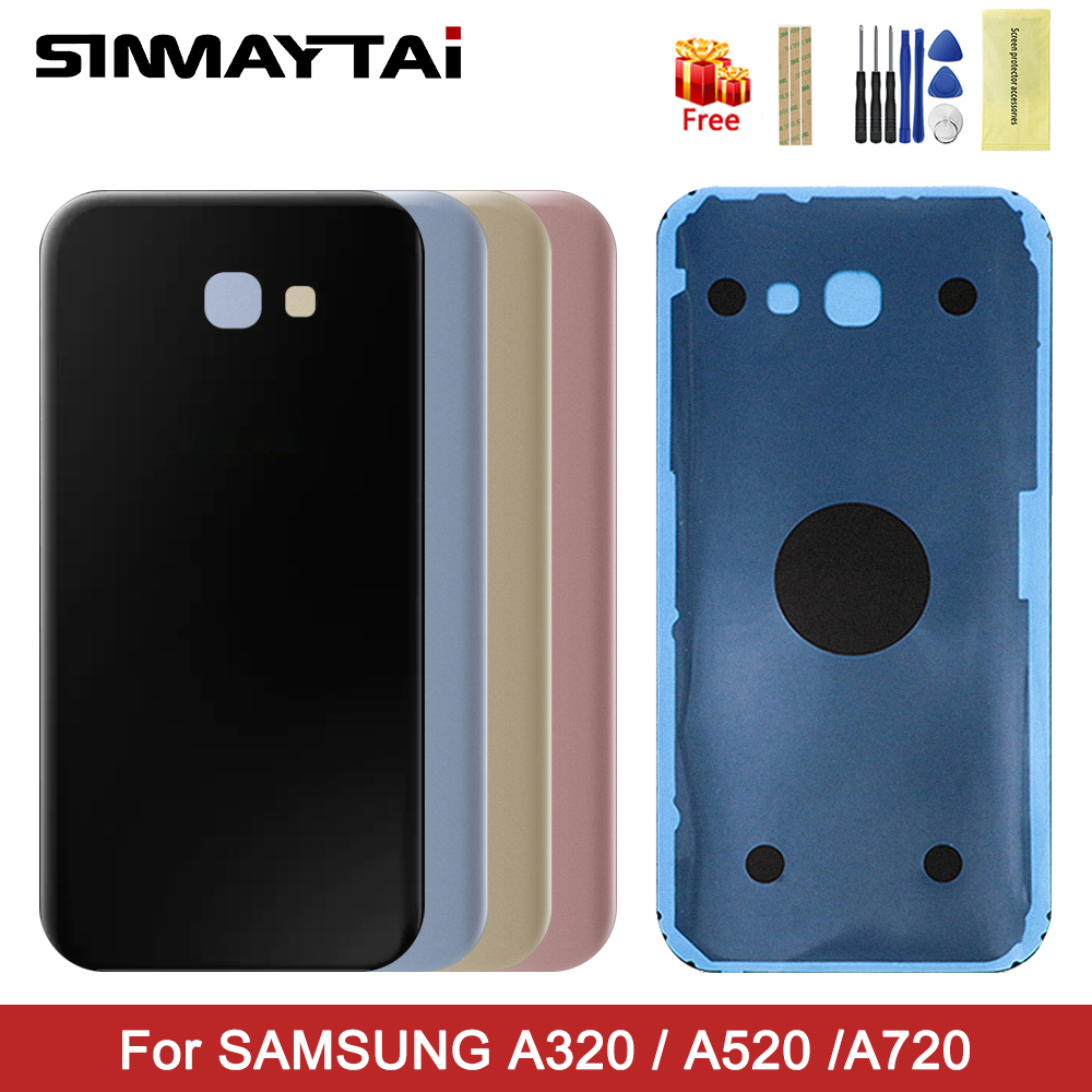 back cover for Samsung A3 A5 A7 2017 battery back cover for Samsung Galaxy <font><b>A320</b></font> A520 A720 A320F A520F A720F housing Repair Parts image