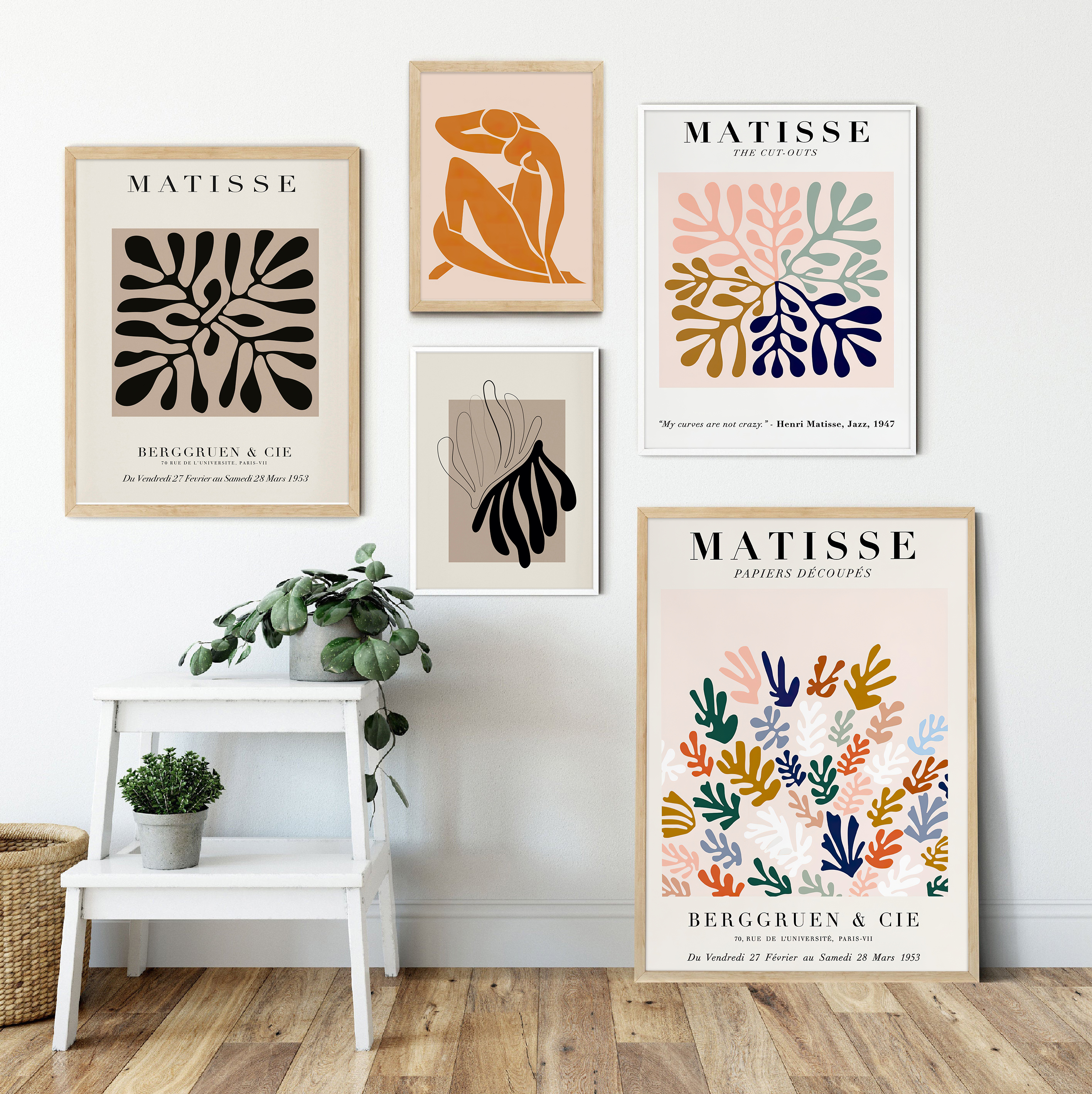 Geometry Abstract Curve Poster Matisse Canvas Painting Colorful Style Posters and Prints Wall Art for Living Room Home Decor