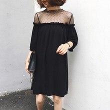 Sexy Women Black Pleated Mini Dress Short See-Through Transparent Mesh Dress Party Flare Sleeve Plus Size Dress plus embroidered mesh insert pleated sleeve bardot dress