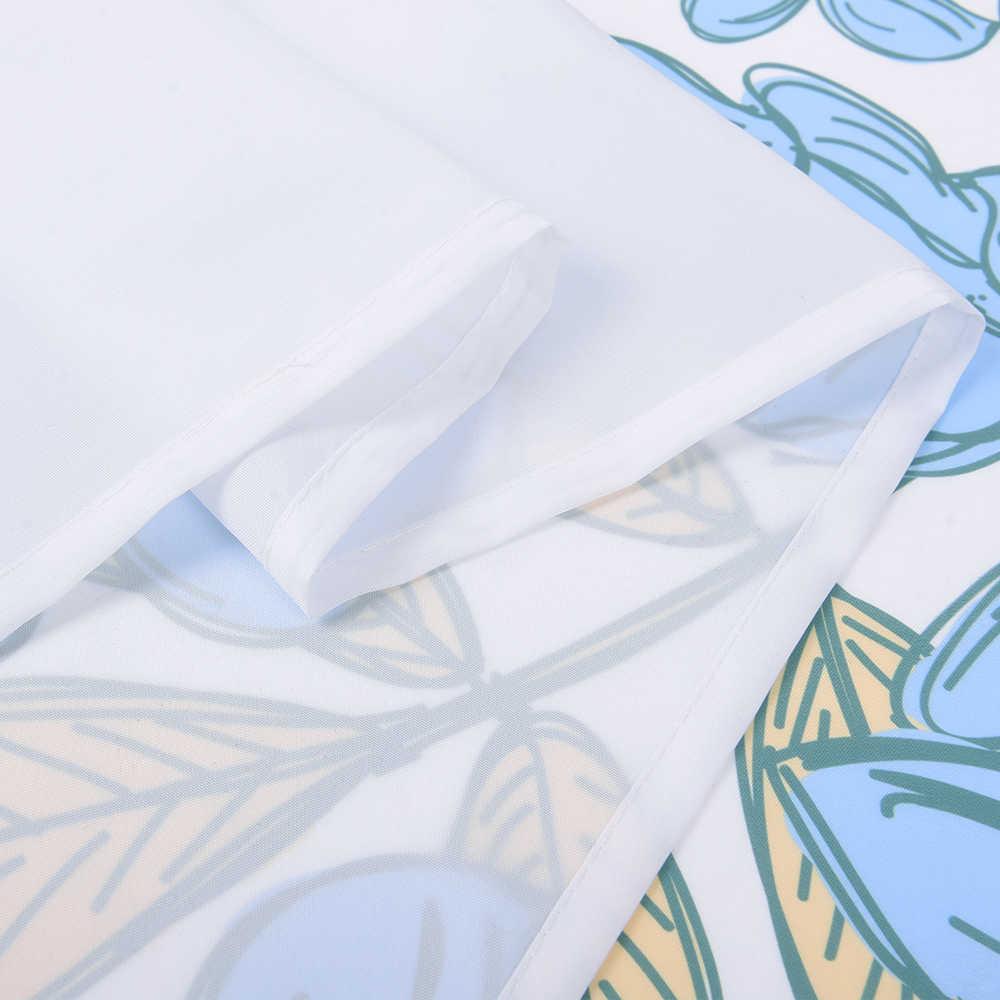 NICETOWN الطباعة الإبداعية دش الستار مقاوم للماء البوليستر النسيج ستارة الحمام الستار مع 12 السنانير