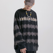 Dark Icon Striped Tie Dying Sweatshirt Men 2019 Autumn New Fashion Mens Sweatshirts Street