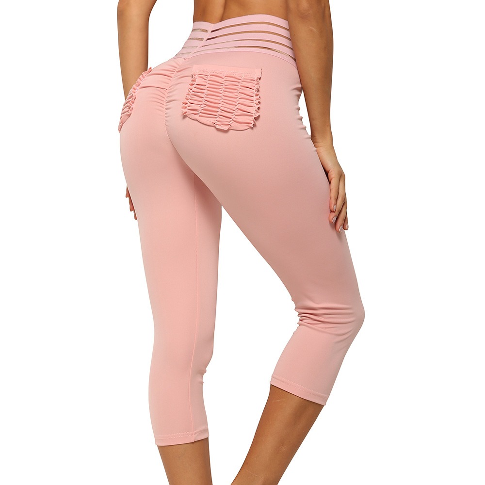 Sexy Women Hip Leggings Slim Breathable Trousers Sweat Pants Big Size Sportswear Push Up Fitness Pocket Elasticity Leggings