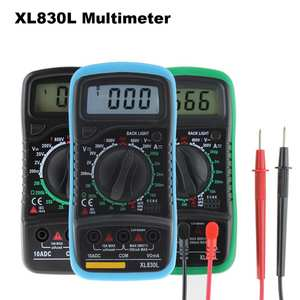 XL830L DT830B High Safety AC/DC Multimeter LCD Digital Volt Amp Ohm Tester Meter Voltmeter Ammeter Overload Protect With Probe