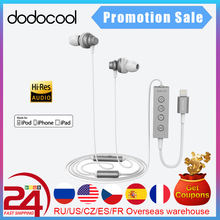 Dodocool MFi مرحبا الدقة في الأذن ستيريو سماعة مع البرق موصل Mic آيفون X زائد 8 7 Plus SE باد الهواء آيفون سماعة