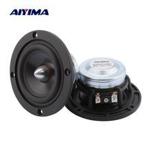 AIYIMA, 2 шт., 3 дюйма, динамик среднего диапазона, 4, 8 Ом, 15 Вт, полный диапазон звука, музыкальный динамик, цилиндрическая головка, Алюминиевый автомобильный громкий динамик