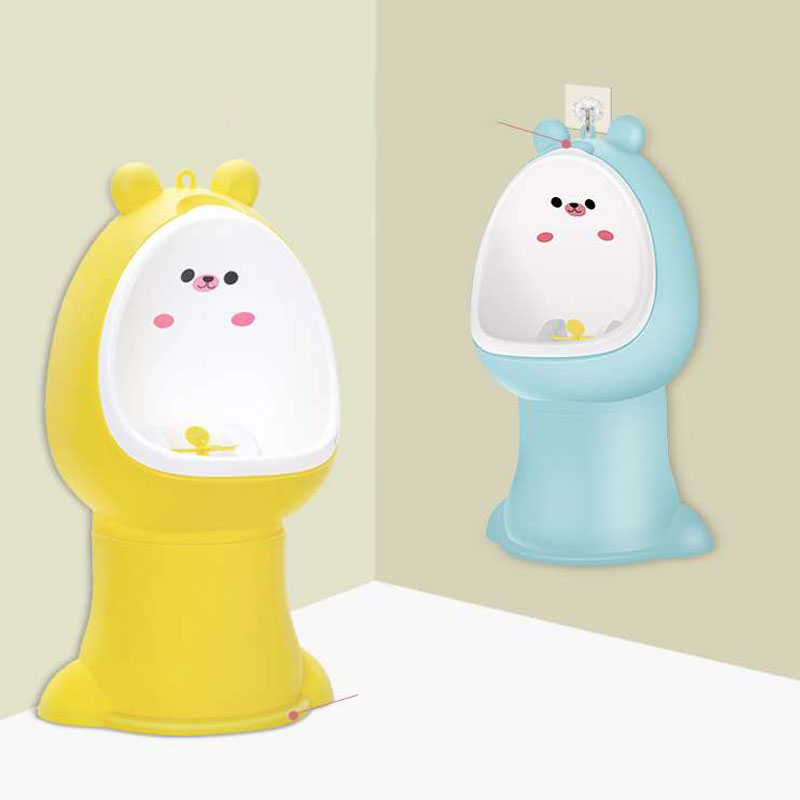 Kids Bear Potty Toilet Urinal Pee Trainer Wall-Mounted Toilet Pee Trainer Penico Pinico Children Bear Baby Boy Urinal