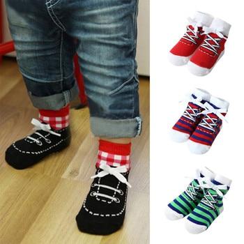Baby Socks 1 Pairs Infant Baby Girls Boys Stripe Comfortable Socks Anti-Slip Slipper Socks