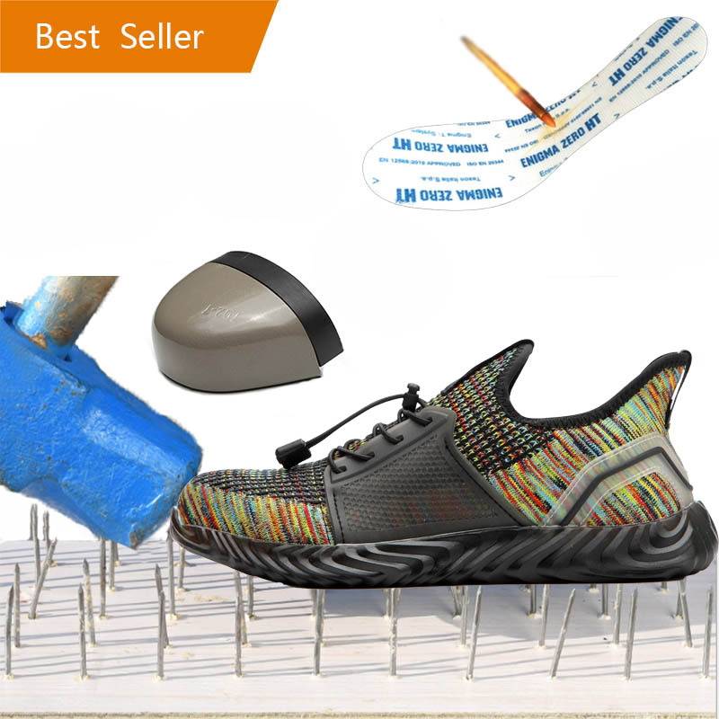 Safety Shoes Boots For Men Male Autumn Breathable Work Shoes Steel Toe Indestructible Safety Work Boots Sneakers