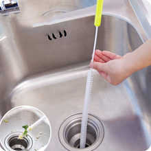 71 cm Extended Sewer Cleaning Brush Pipe Dredging Tools Drain Snake Kitchen Bathroom Sink Pipe Cleaner Hair Removal Tools Dredge