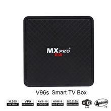 Android 7,0 ТВ приставка Smart tv BOX Allwinner H3 1 ГБ 8 ГБ четырехъядерный процессор Suppot H.265 HD 4K 2,4 ГГц BT4.0 WiFi V96S pk X96 H96 приставка