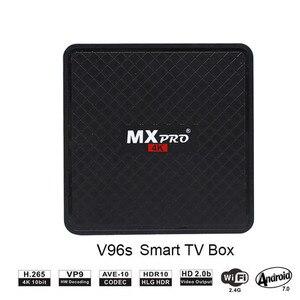 Image 1 - Android 7.0 tv, pudełko smart tv Box Allwinner H3 1GB 8GB czterordzeniowy Suppot H.265 HD 4K 2.4GHz BT4.0 WiFi V96S pk X96 H96 dekoder
