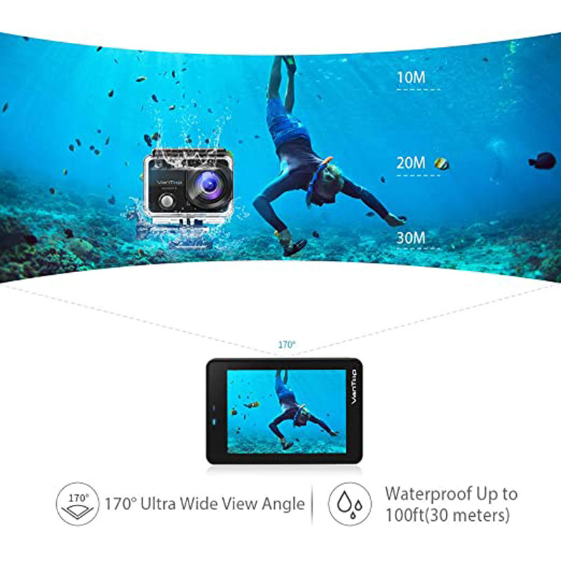 VanTop Moment 3 4K Action Camera Underwater Waterproof Camera  with 170° Wide Angle Outdoor Mini  WiFi Video Sports Mini Camera-3