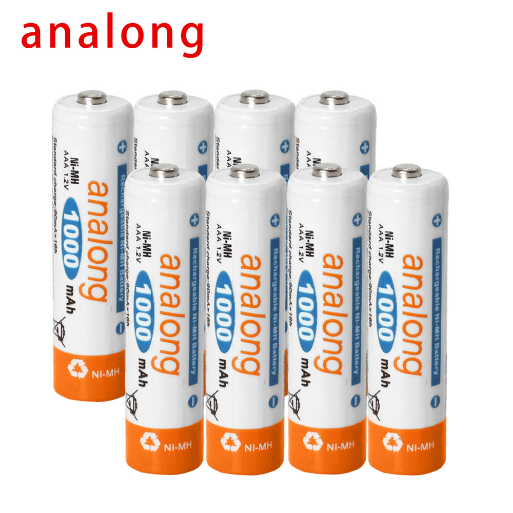 Analong 3A AAA Rechargeable Battery 1000mAh 1.2V AAA NIMH Rechargeable Batteries Bateria Bateris 3A Battery