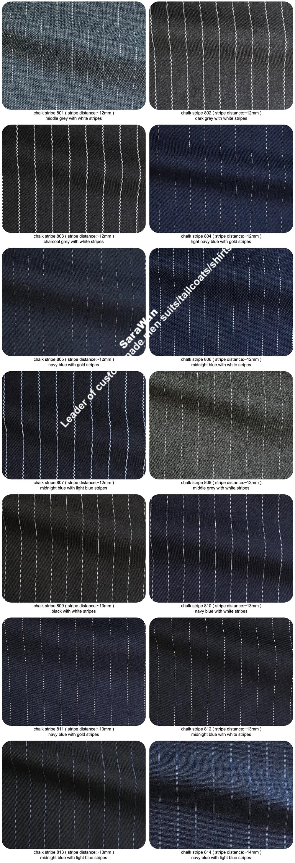Sharp Dark Grey Chalk Stripe Men Suits Custom Made Striped Suit Chalk-striped Business Suits Wardrobe Essentials 2019
