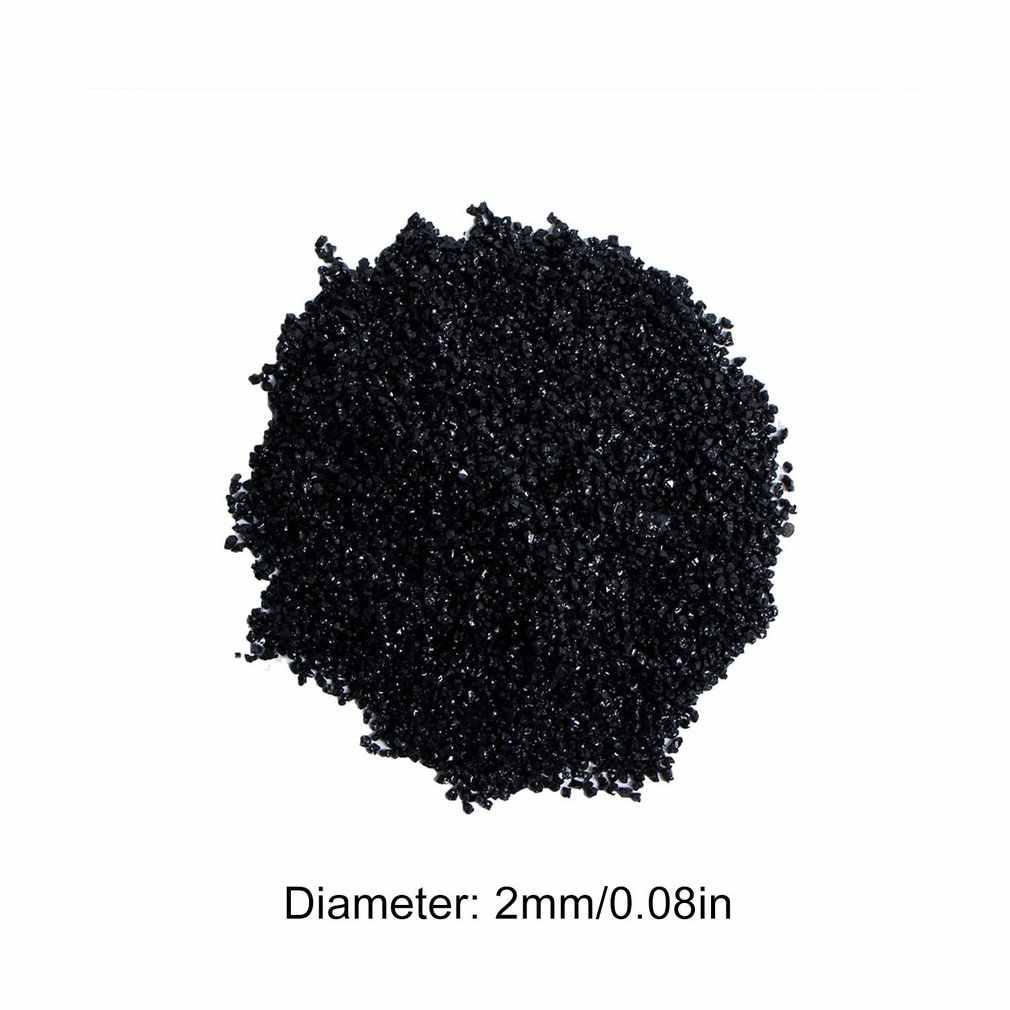 自然な黒トルマリン石ロックミネラル天然石とミネラル自然な黒トルマリン粒子ラフ生顆粒