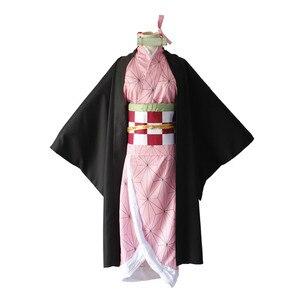 Image 2 - קוטלת שד Kimetsu לא Yaiba קאמאדו Nezuko קוספליי בגדי תערוכת כנס שנתי ביצועי ליל כל הקדושים cosplay תלבושות