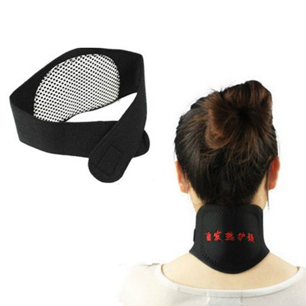 Tourmaline Self Heating Neck Pad Magnetic Therapy for Keeping Warm and Relieve Pain Neck Support