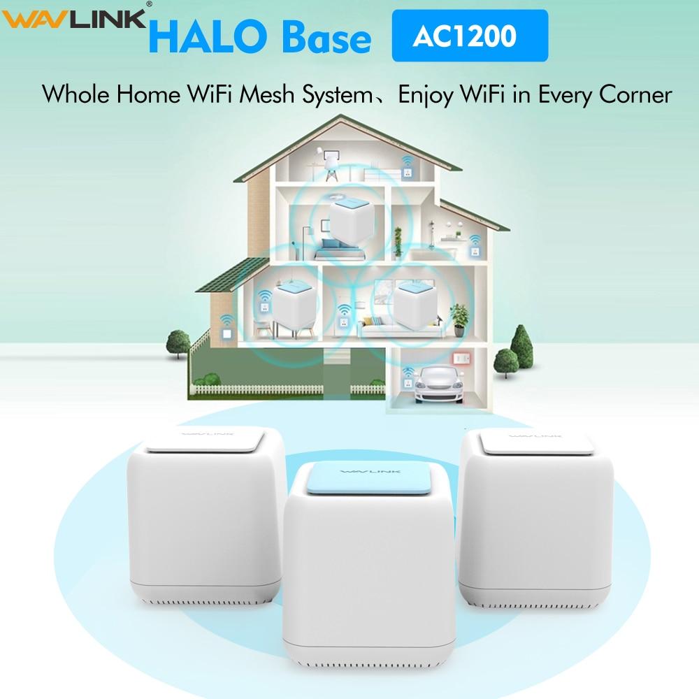 Original AC1200 Toda Casa Wi-Fi Mesh Sistema Inteligente Sem Fio WI-FI Roteador Gigabit Dual Band 2.4G/5Ghz wi-fi repetidor 1200mbps