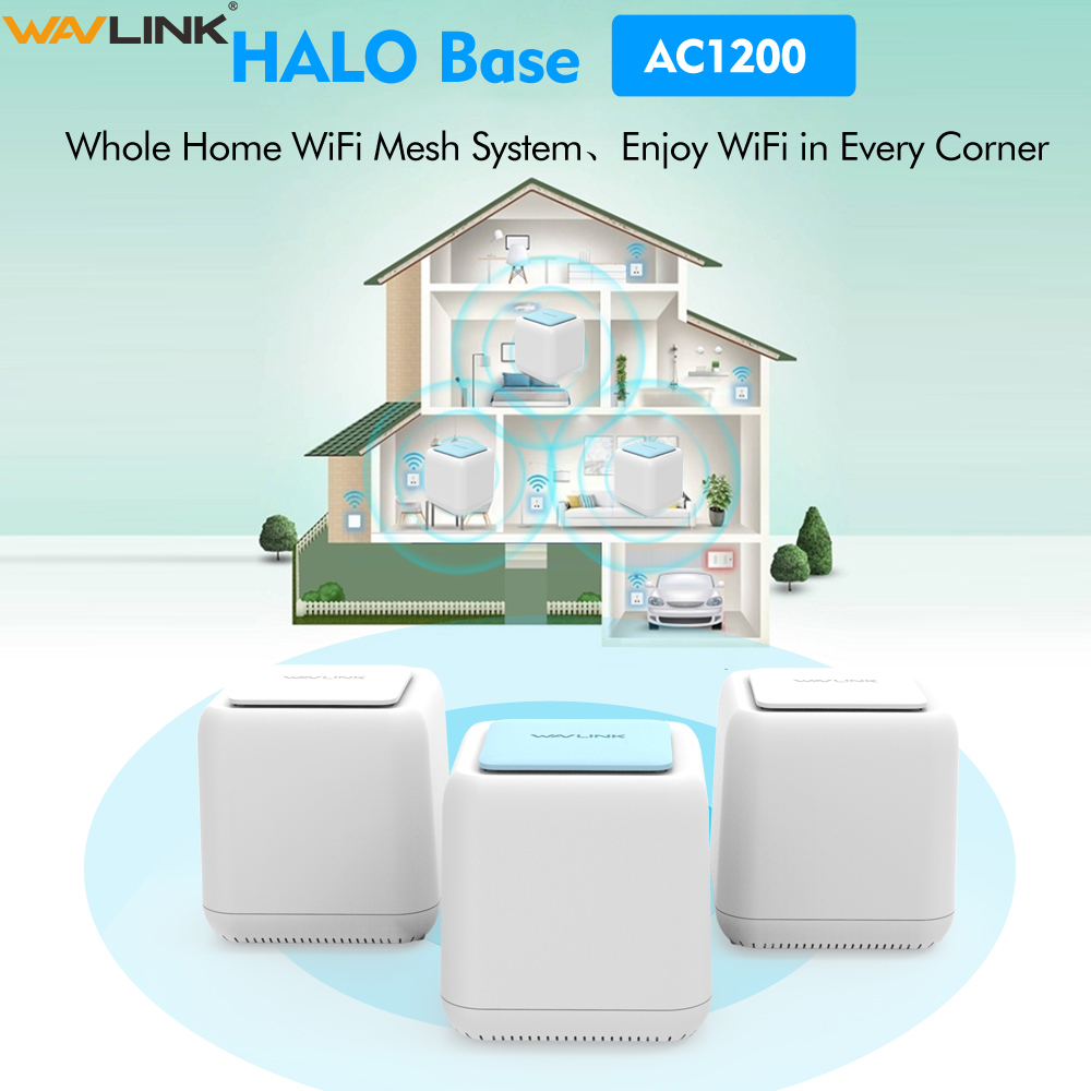 Routeur WIFI sans fil d'origine AC1200 Gigabit système intelligent de maille Wi-Fi à domicile double bande 2.4G/5Ghz répéteur wifi 1200mbps