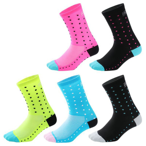 Sport Cycling Socks Men Women Endurable Mid Length Compression Training Socks For Outdoor Sports Runing Hiking Climbing