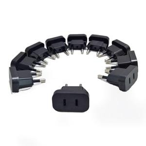 Image 2 - 10 adet 2Pin CN abd 4.8mm ab Euro avrupa fiş dönüştürücü seyahat elektrik AC güç adaptör soketi 2 yuvarlak seyahat adaptör soketi