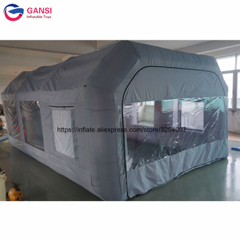 Free Shipping Custom Inflatable Spray Booth Inflatable Portable Paint Booth With Filter Carbon hot selling paint booth inflatable portable paint booth inflatable car tent inflatable spray booth for car tent toys