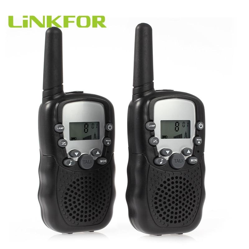 LiNKFOR 2 Way Wireless Walkie Talkies T-388 UHF 446MHz Auto Multi Channels Portable Wireless Walkie Talkie Two-Way Radio 3km