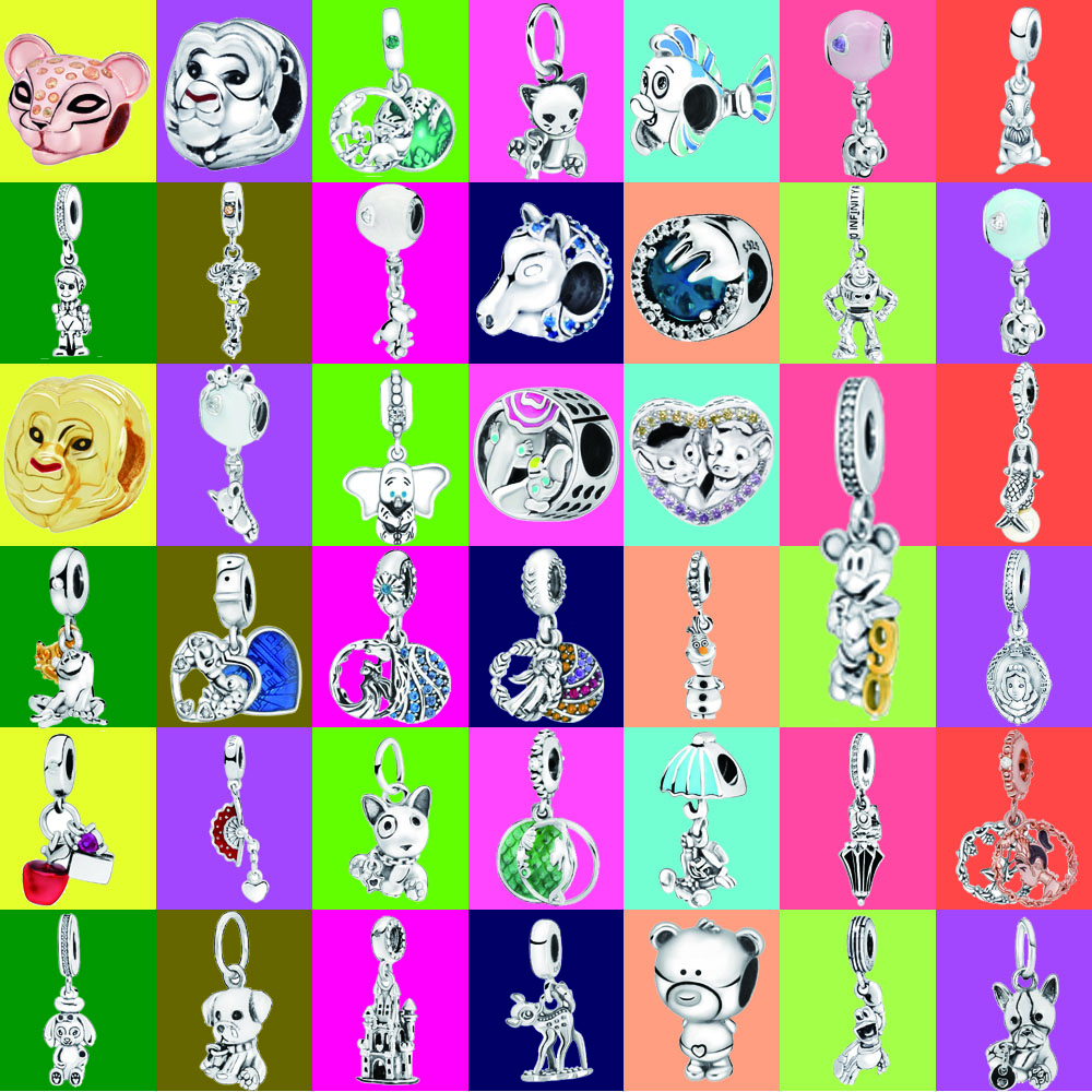 Fashion 925 Sterling Silver Beads Olaf Cartoon Animal Dog Charms Fit Original Pandora Bracelets Necklaces Women DIY Jewelry