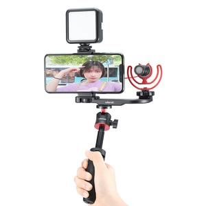 Image 3 - Ulanzi PT 8 PT 9 Gopro Smartphone Vlog צלחת עבור Sony A6400 A6300 קר נעל הר להאריך מיקרופון LED אור מתאם