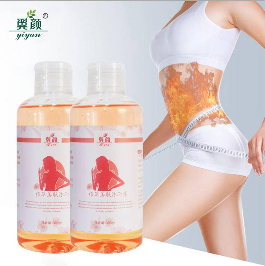Купить с кэшбэком 300ML Slimming Losing Weight Essential Oils Thin Leg Waist Fat Burning Pure Natural Weight Loss Beauty Body Slimming shower gel