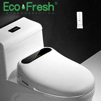 EcoFresh smart toilet seat electric bidet cover clean dry heating wc intelligent LCD display