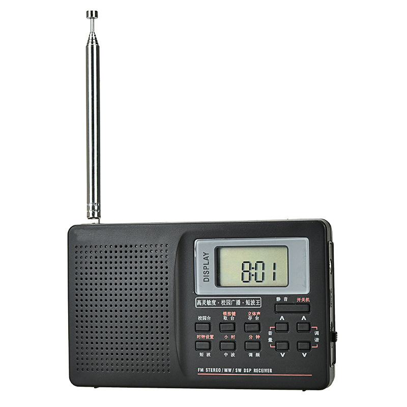 New Hot Digital Radio with Alarm Clock Sleeping Timer Function Battery Operated Stereo Radio AM/FM/SW