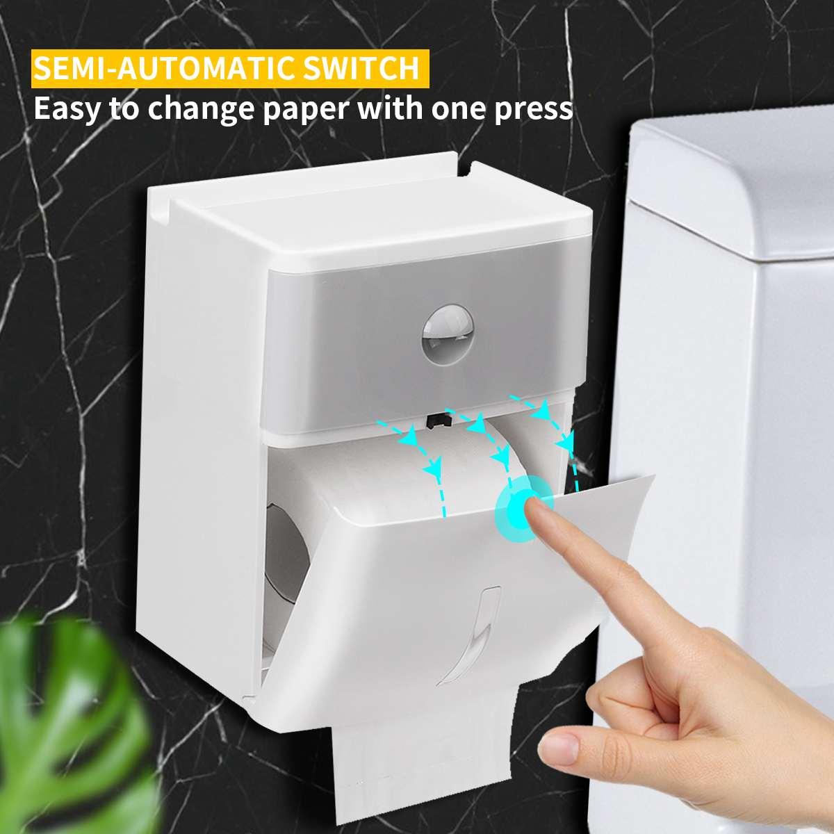 Washroom Paper Towel Dispenser Wall Mounted Paper Holder Waterproof Home Toilet Holder Organizer Bathroom Fixture Commercial Use