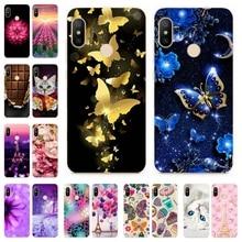 Silicone Cover For Xiaomi Redmi 6 pro Case 5.84' Cute Cat Printing Phone Shell for Xm Xiomi Redmi Redmi6 6 pro 6pro Fundas Coque все цены