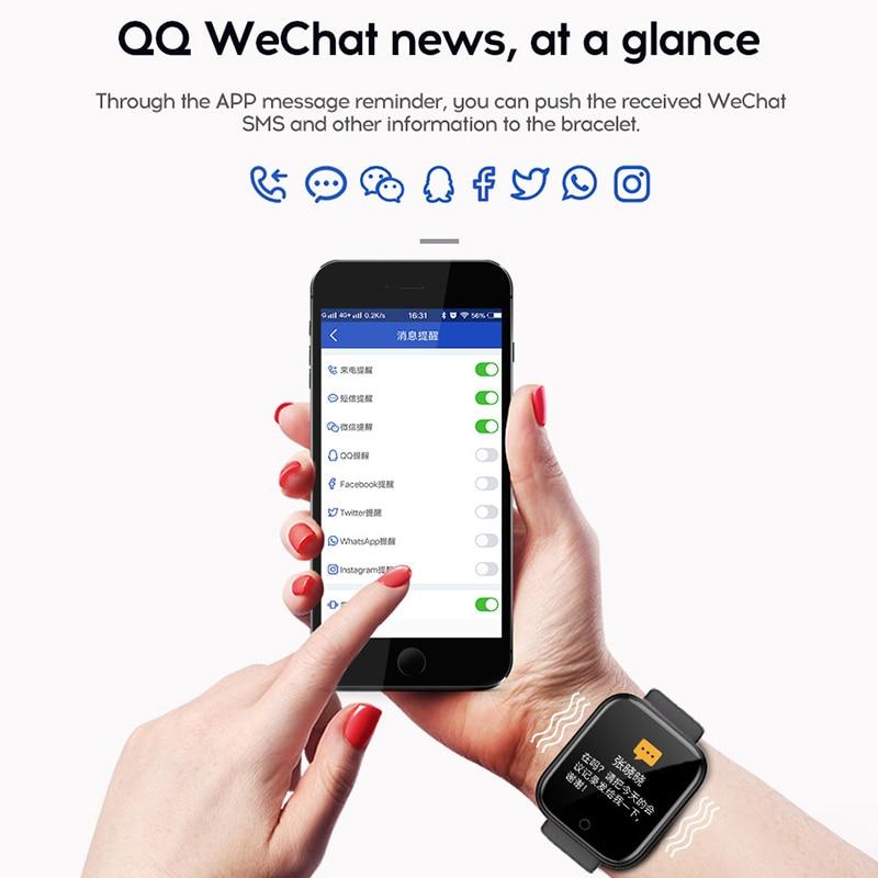 Новый спортивный смарт-браслет Y68 для фитнеса, измерения артериального давления, пульса, сообщений, напоминаний, Android, шагомер, Смарт-часы 2