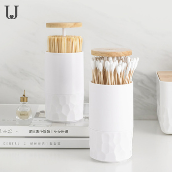 Automatic Toothpick Holder Creative Toothpick Stand Type Cotton Swab Box Toothpick Safety Wood Storage Box For Smart Home Use 24 colors european toothpick holder automatic hand carved white toothpick box toothpick holder ktv hotel home