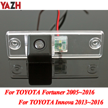 YAZH HD CCD Night Vision Backup Camera For TOYOTA Fortuner SW4 / Innova 2005~2016 Auto Parking Reverse Car Rear View Camera image