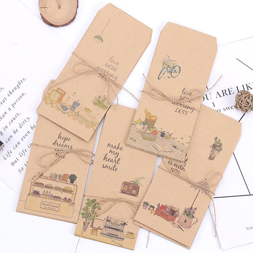 5PCS Those Little Things Cute Paper Envelopes Kraft Paper Envelope Scrapbooking DIY Decorative Card Scrapbooking Gift