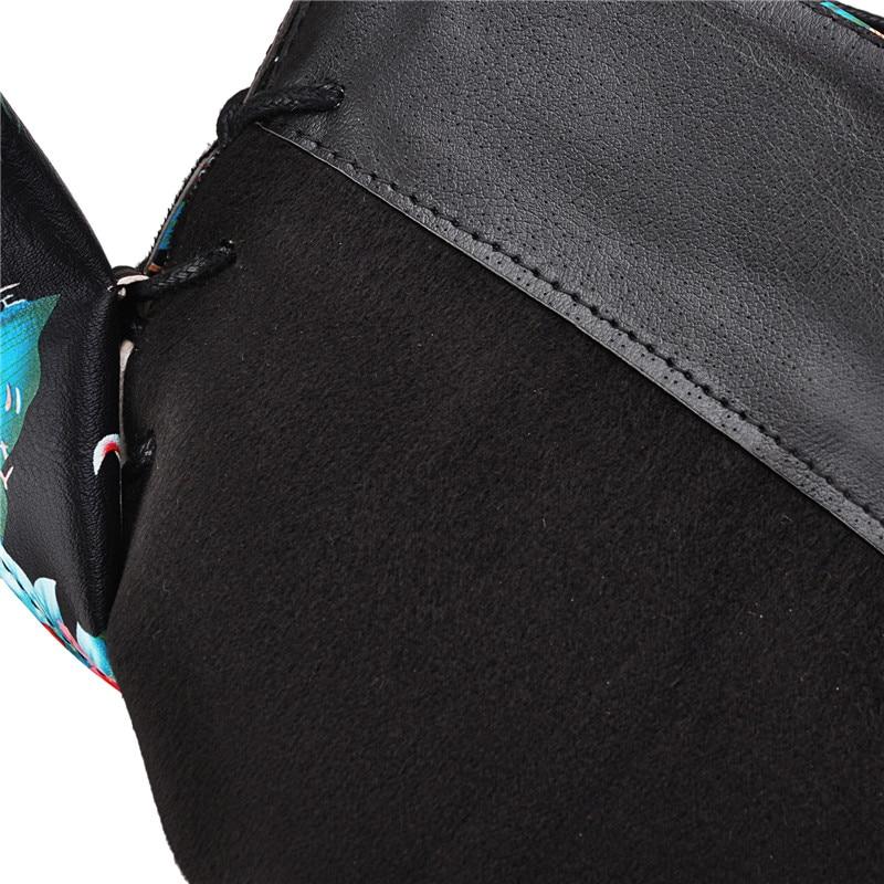 XTR Hiver Gothique Punk Femmes Plate-Forme Bottes Boucle Noire Sangle Fermeture /éclair Creeper compens/ées Chaussures mi-Mollet Militaire Bottes de Combat 5 Noir