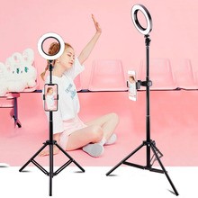 USB Selfie Ring Light 16CM/26CM With Tripod Phone Holder Bluetooth Dimmable Lamp For Youtube Video Live Photo ringlight