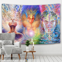 별이 빛나는 밤 은하 장식 Psychedelic Tapestry Wall Hanging 인도 만다라 태피스트리 Hippie Chakra Tapestries Boho Wall Cloth(China)