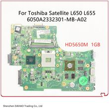 6050a2332301-mb-a02 para toshiba satellite l650 l655 placa-mãe do portátil com hm55 ati hd5650m 1gb gpu v000218020 1310a2332305