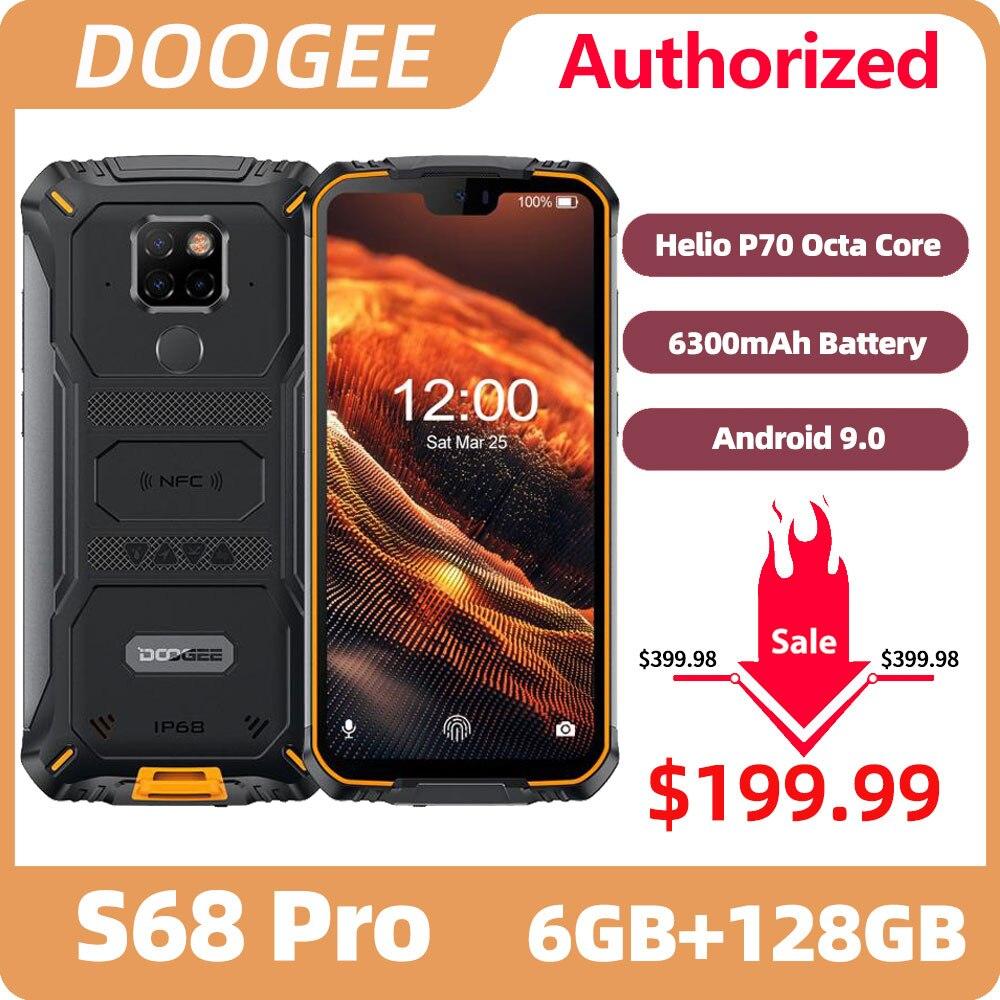 Doogee S68 Pro Robuuste Telefoon Helio P70 Octa Core 6 Gb 128 Gb Draadloze Lading IP68 Waterdichte Nfc 6300 Mah 12V2A Lading 5.9 Inch Fhd +