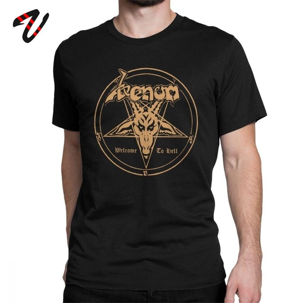 Fashion New Venom  Men Tee Shirt Metal Band Welcome To Hell Album Logo Spiderman T-Shirt  T Shirt Original Tops Tees