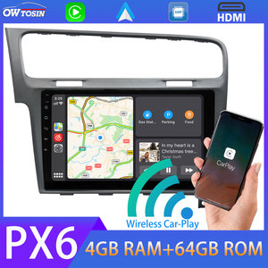 """1Din Android 10 10.1"""" Car Radio GPS PX6 64G Stereo Multimedia Player For 2013-2019 VW Volkswagen Golf 7 MK7 CarPlay TDA7850 DSP(China)"""