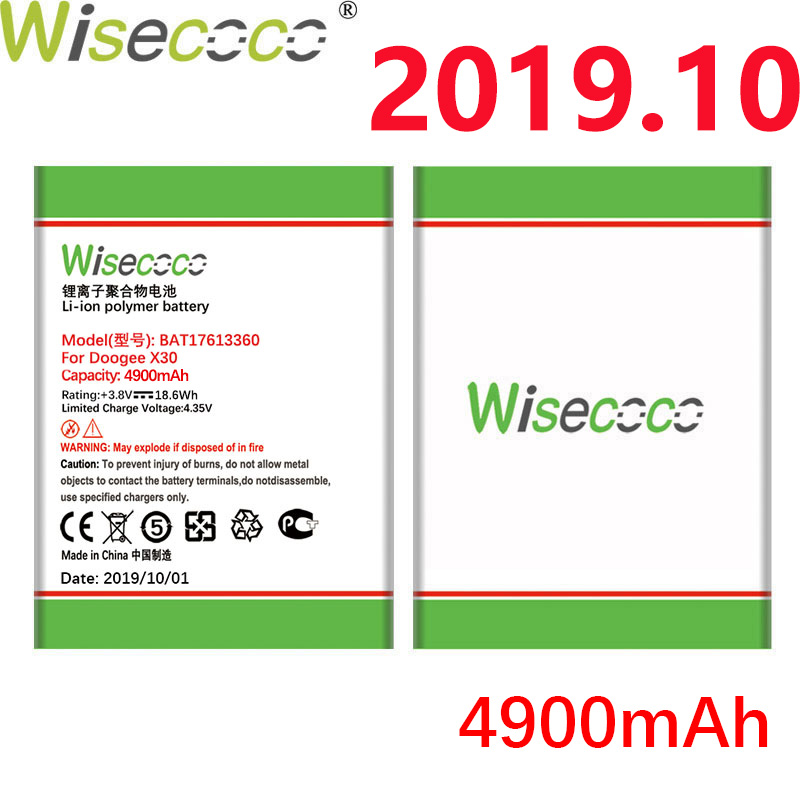 WISECOCO 4900mAh BAT17613360 <font><b>Battery</b></font> For DOOGEE <font><b>X30</b></font> Mobile Phone In stock Latest Production High Quality <font><b>Battery</b></font>+Tracking Number image